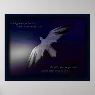 Poster del tributo de la policía del ~ del halcón