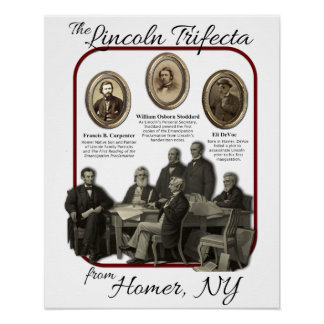 Poster del Trifecta de Lincoln del home run histór