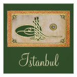 Poster del tughra del sultán del otomano