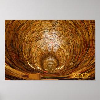 poster del túnel del libro