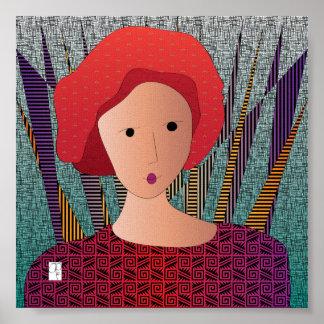Poster del turbante de los gorras de las mujeres