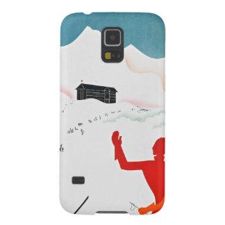 Poster del turismo del vintage de Mont Ginebra Funda Para Galaxy S5