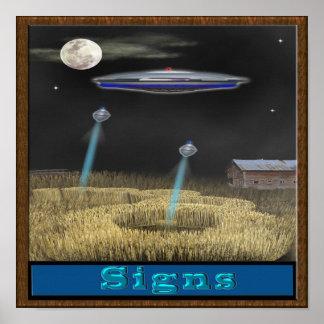 Poster del UFO del círculo de la cosecha