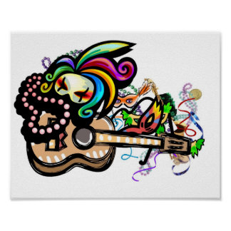 Poster del Ukulele del carnaval