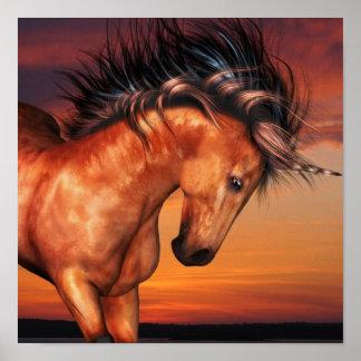 Poster del unicornio de la castaña