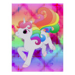 Poster del unicornio del arco iris