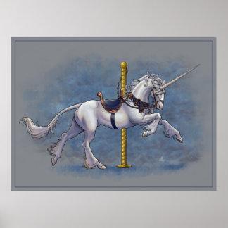 Poster del unicornio del carrusel