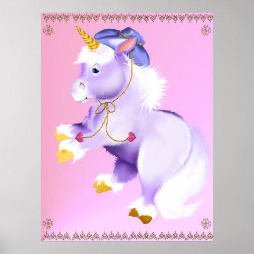 Poster del unicornio del vaquero