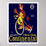 Poster del Unicycle del vintage: Neumáticos contin