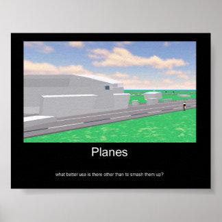 Poster del uso de los aviones póster