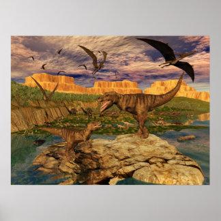 Poster del valle del dinosaurio