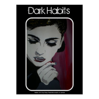 "Poster del vampiro de los ""hábitos oscuros"" póster"