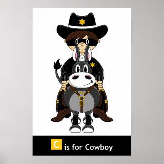 Poster del vaquero y del caballo