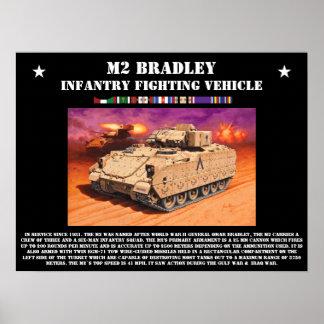 Poster del vehículo de lucha de la infantería del