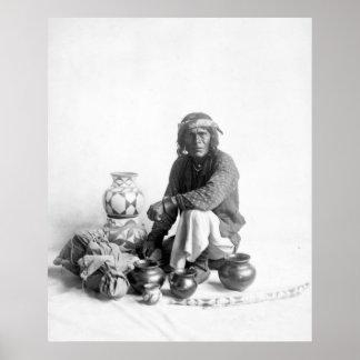 Poster del vendedor ambulante de Sandomingo