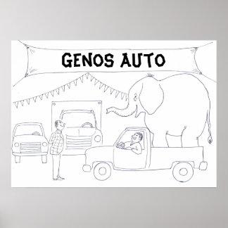 Poster del vendedor de coches
