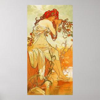 Poster del verano de Alfonso Mucha