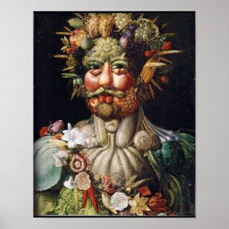 Poster del Verdura-Man de Giuseppe Arcimboldo Vert