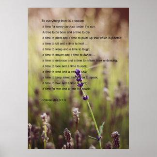 Poster del verso de Ecclesiastes