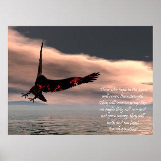 Poster del verso de la biblia de Isaías 40
