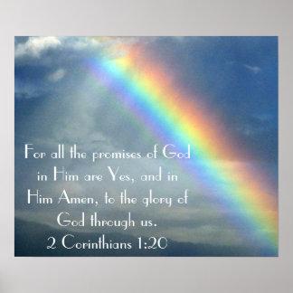 Poster del verso de la biblia de las promesas de d