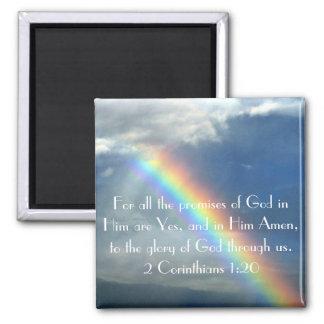 Poster del verso de la biblia de las promesas de d imán cuadrado