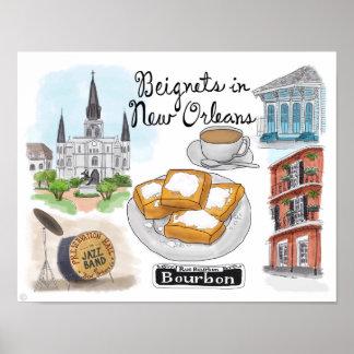 Poster del viaje: Beignets en New Orleans