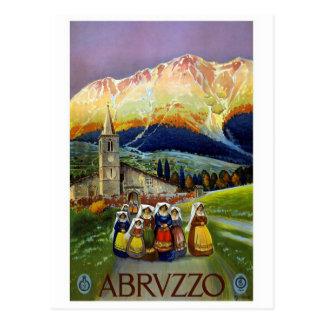 """""""Poster del viaje de Abruzos del vintage """" Tarjetas Postales"""