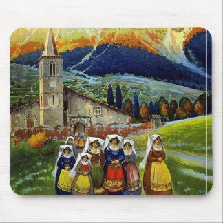 Poster del viaje de Abruzos Italia del vintage