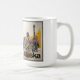 Poster del viaje de Alaska/del vintage Taza Básica Blanca