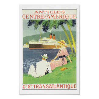 Poster del viaje de Antillas América el Caribe del