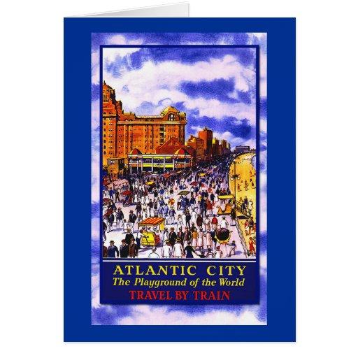 Poster del viaje de Atlantic City del vintage en t