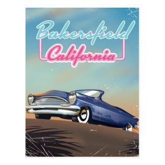 Poster del viaje de Bakersfield California Tarjetas Postales