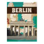 Poster del viaje de Berlín del vintage Postales