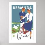 Poster del viaje de Bermudas del vintage