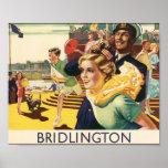 Poster del viaje de Bridlington del vintage
