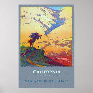 Poster del viaje de California