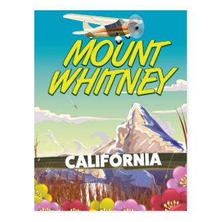 Poster del viaje de California el Monte Whitney Postal