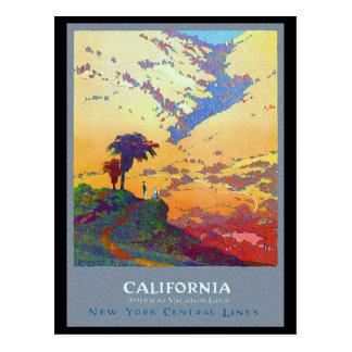 Poster del viaje de California Postal