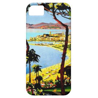 Poster del viaje de Cannes del vintage iPhone 5 Protector