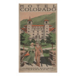 Poster del viaje de Colorado del hotel