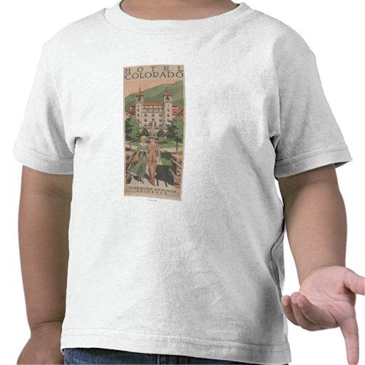 Poster del viaje de Colorado del hotel Camiseta