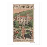 Poster del viaje de Colorado del hotel Tarjetas Postales