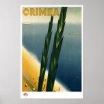 Poster del viaje de Crimea del vintage