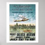 Poster del viaje de Cruse del barco de vuelo de Ch