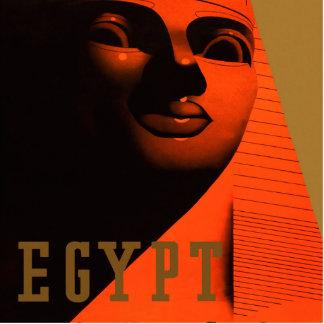 Poster del viaje de Egipto del vintage Escultura Fotográfica