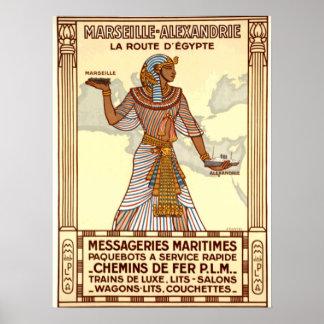 Poster del viaje de Egipto del vintage Póster