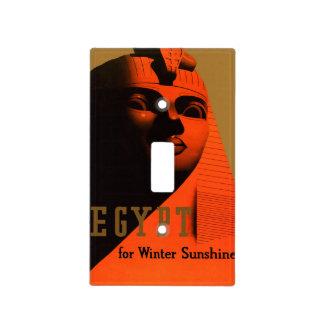 Poster del viaje de Egipto del vintage Placas Para Interruptor