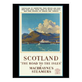 Poster del viaje de Escocia Postal