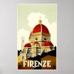 Poster del viaje de Firenze